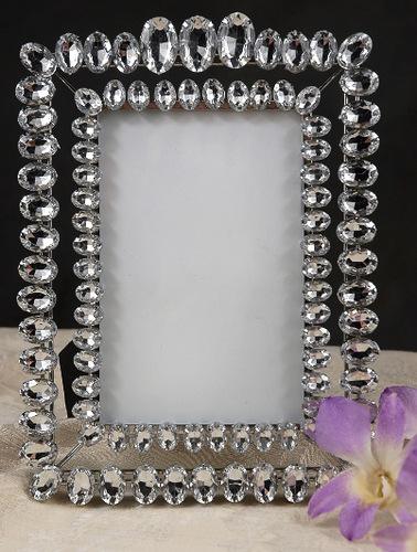 Marco de foto decorado con diamantes de imitaci n - Como decorar un marco de fotos ...