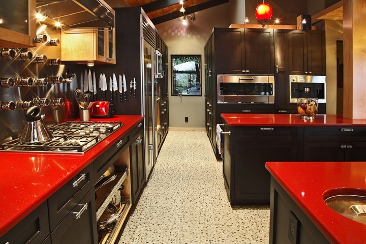 red kitchen countertops delorme designs seeing red red countertops