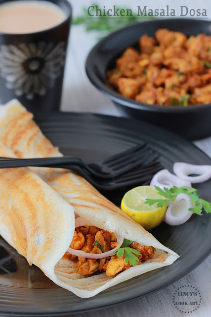 Masala Dosa with Chicken