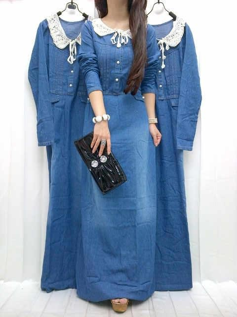 Baju Nooz Denim Dress 210766 Habis Cafe Bajoo
