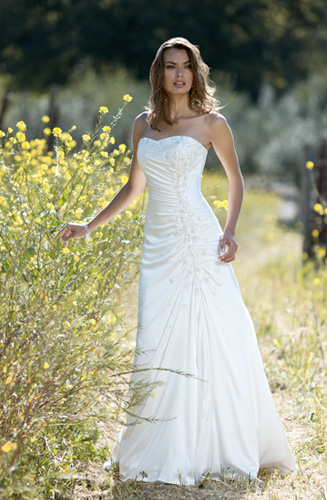 Strapless Modest Wedding Dress