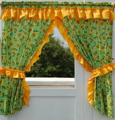 Decoraci n de interiores decora la ventana de la cocina for Decoracion de cortinas para cocina