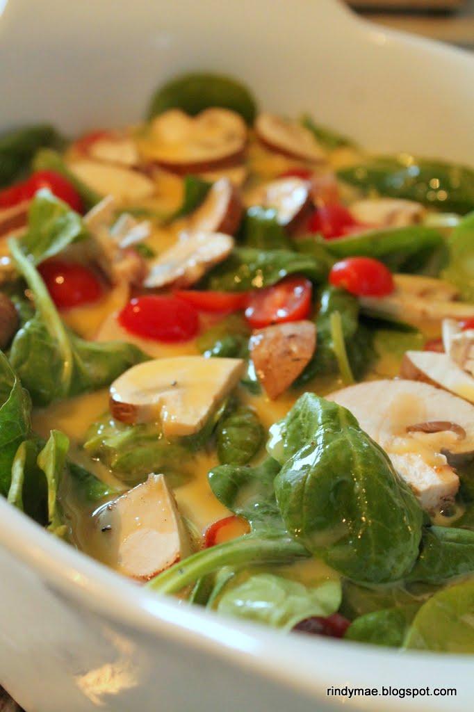 Rindy Mae: Spinach, Mushroom, and Tomato Frittata