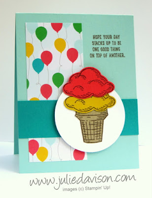 Stampin' Up! Sprinkles of Life Birthday card for PSC05 www.juliedavison.com #stampinup