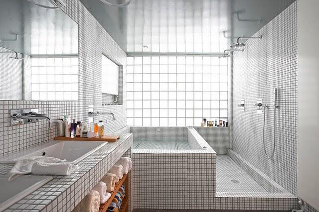Toques e Retoques Tijolo de Vidro -> Decoracao Com Tijolo De Vidro No Banheiro