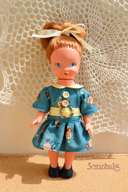 винтажная кукла времен ГДР хитрулька