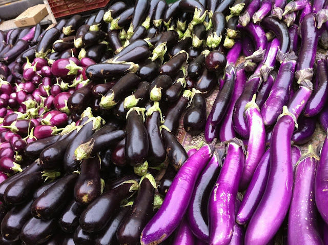 Eggplants at Santa Monica Farmer's Market