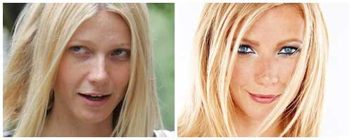Gwyneth Paltrow antes y despues