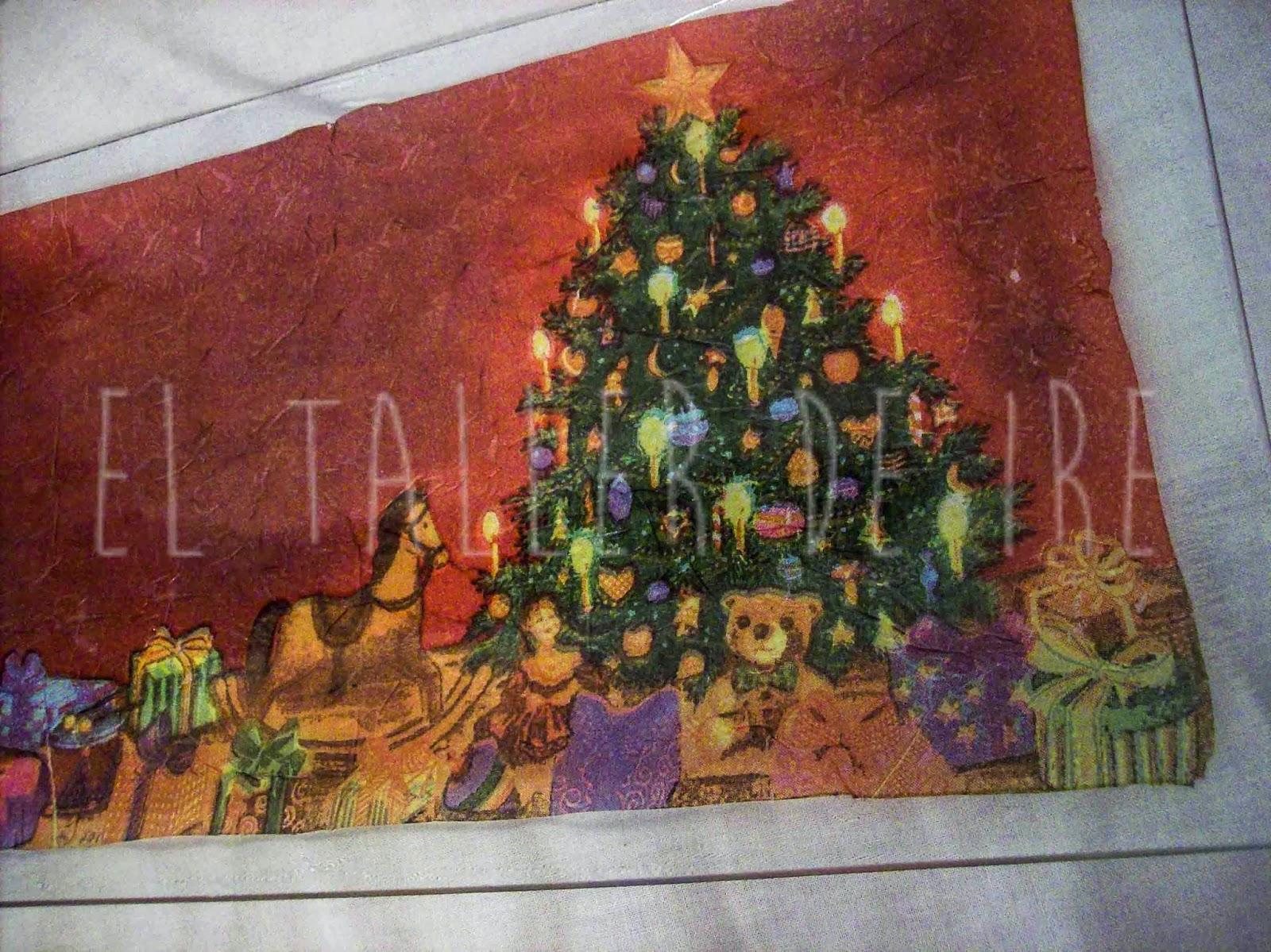 Bandejas de navidad con decoupage el taller de ire for Bandejas de navidad