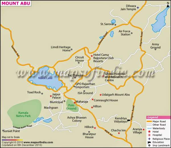 Travel Map of Mount Abu
