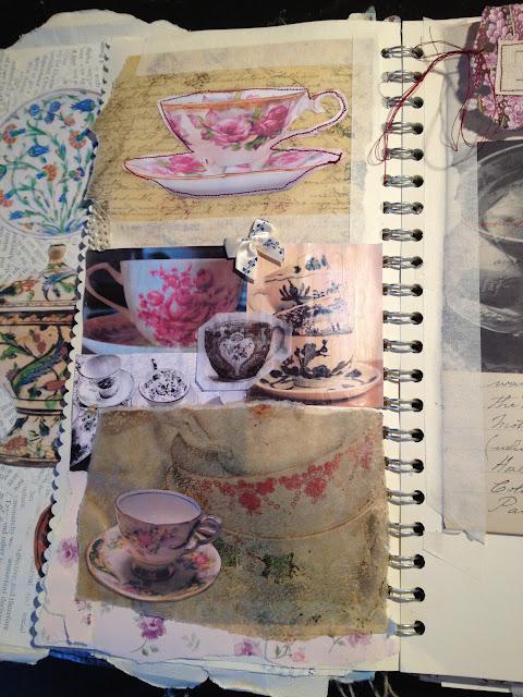 rose petals  sketchbook