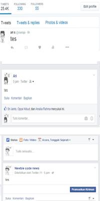 Update Facebook Fan Page Sekarang Bisa Dari Twitter
