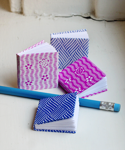 Mini origami paper notebooks for children