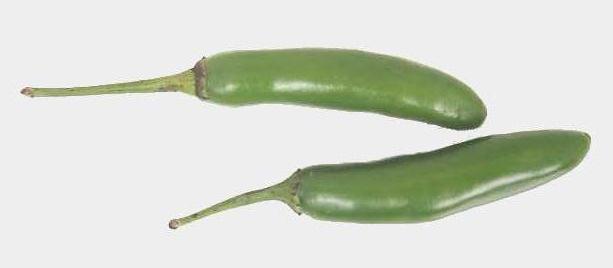 Serrano peppers are bright