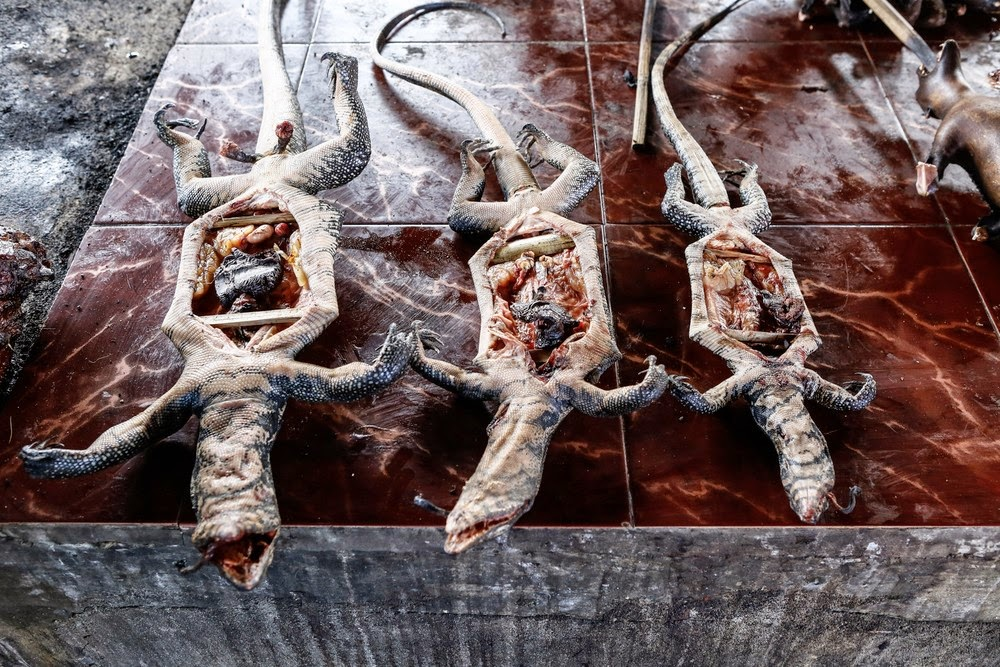 Рынок экзотических фастфудов. Фото