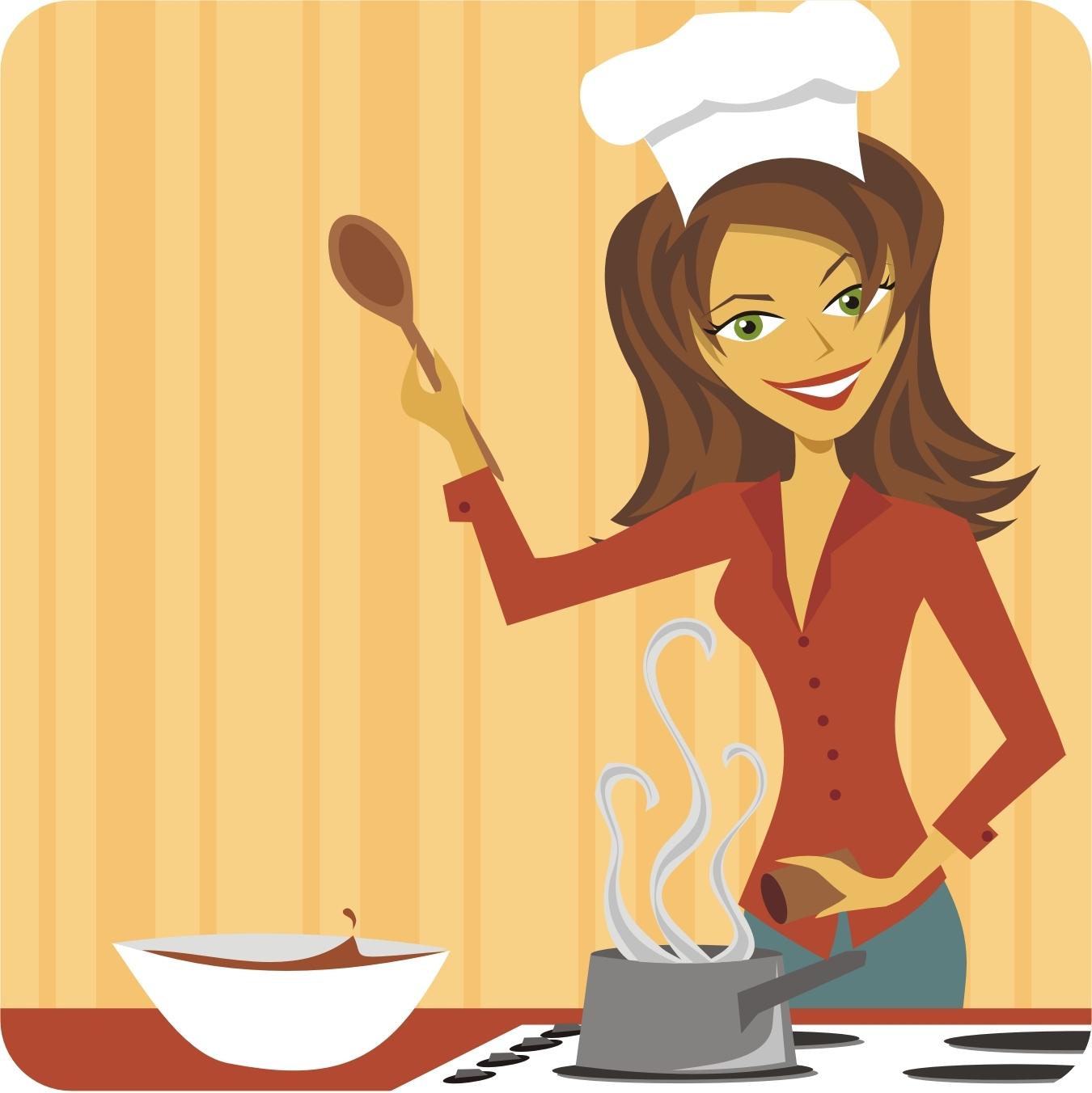 Kitchen chefs clipart clipartfest cartoon restaurant kitchen - Filename Lady Chef Jpg