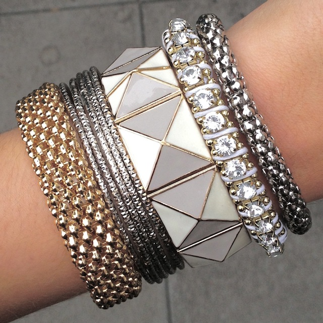 Wanna arm party elle yeah a fashion beauty and for Mixture of gold and silver