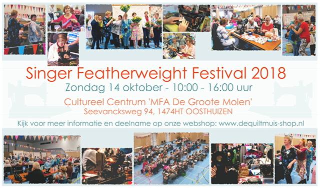 Zondag 14 oktober: het Singer Featherweight Festival
