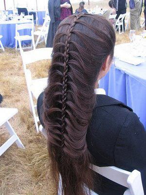 Modern french braid hair style.