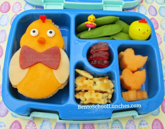 Easter chick bento school lunch