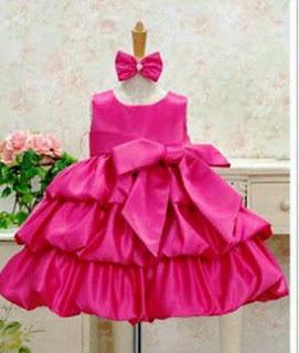 Gaun Pesta Anak Perempuan Cantik Warna Pink