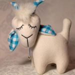 patron gratis cabra de tela | goat free cloth pattern