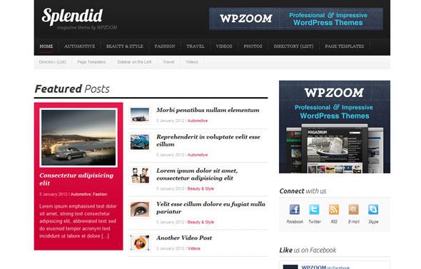 Splendid - Premium WordPress Theme Free Download by WpZoom.