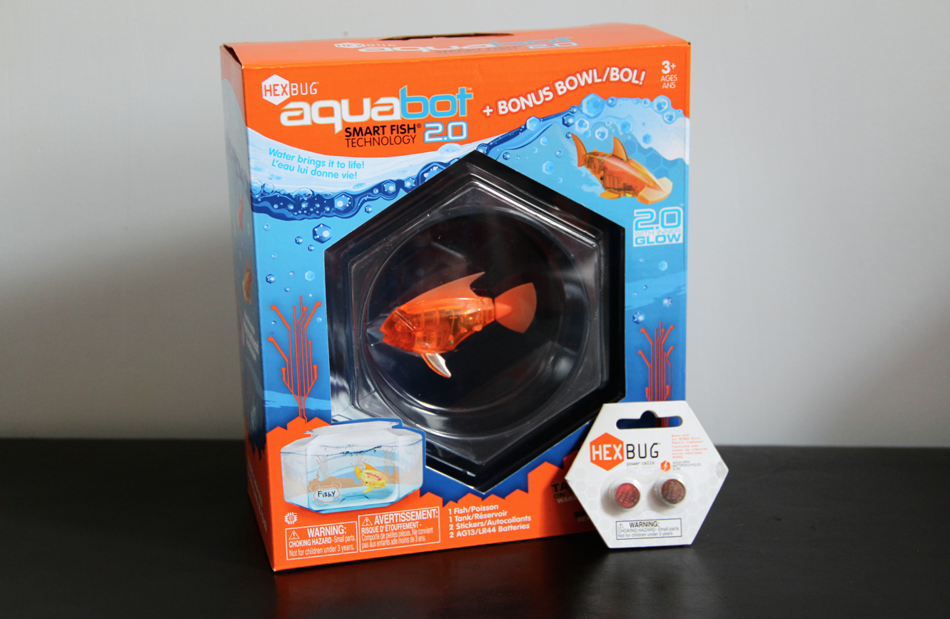 Introducing our new pet aquabot 2 0 toronto teacher mom for Aquabot smart fish