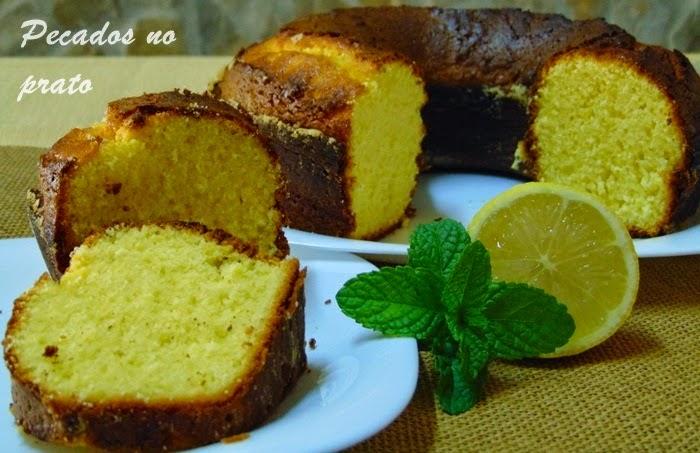 Receita  bolo de limão