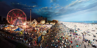 Coney Island by day and night, New York