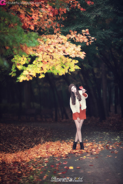 Park-Hyun-Sun-Autumn-Orange-Dress-09-very cute asian girl-girlcute4u.blogspot.com