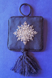 Beaded Blackwork Snowflake