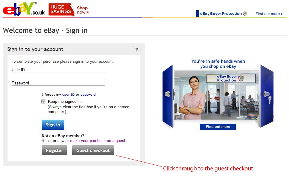 how to buy on ebay without paypal or credit card
