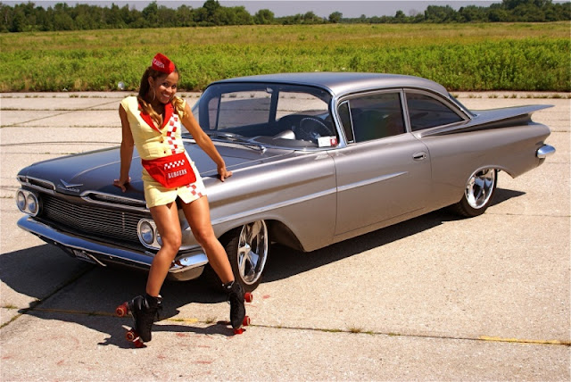 hot car and girl