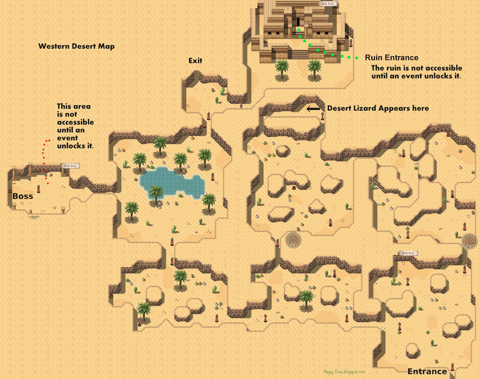 Adventure Bar Story - Western Desert Map
