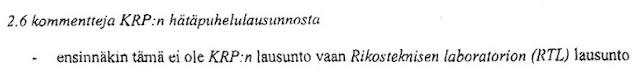 Tuija Niemi: Tämä ei ole KRP:n lausunto