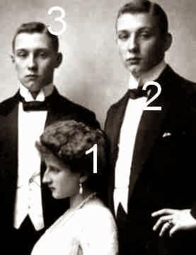 Auguste Viktoria, Friedrich et Franz Joseph von Hohenzollern