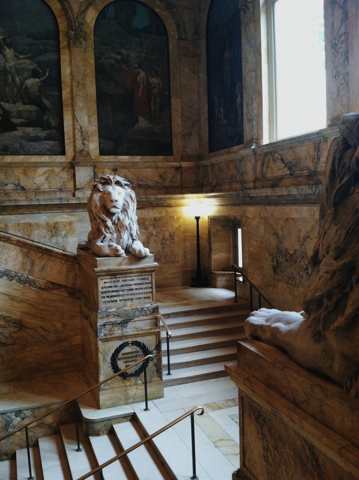 Boston Public Library lions