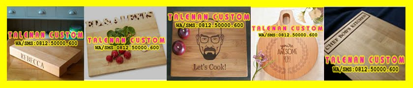 Talenan Custom/Saji (Ukir Kayu Jati + Finishing)