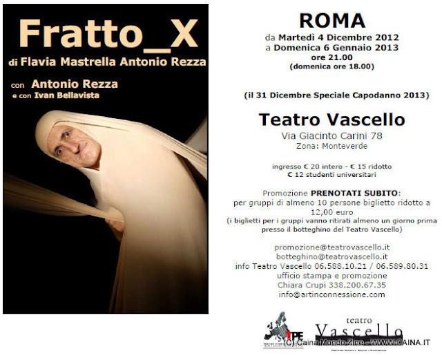 Antonio Rezza Fratto X spettacolo