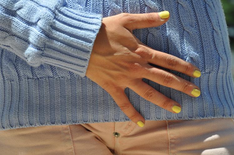 pastel colors, giallo, neon, colori pastello, smalto giallo, shorts pastello