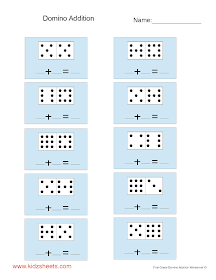 Worksheets first grade domino addition worksheets domino addition