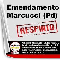 Emendamento Marcucci (Pd) RESPINTO