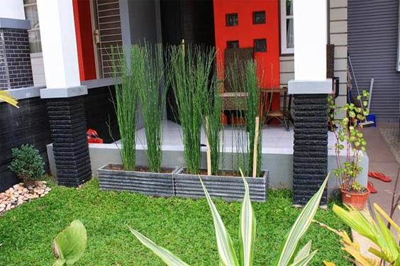 Taman Teras depan Rumah Minimalis