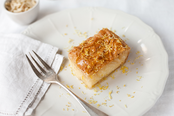 ... lemon semolina custard in phyllo recipes dishmaps lemon semolina