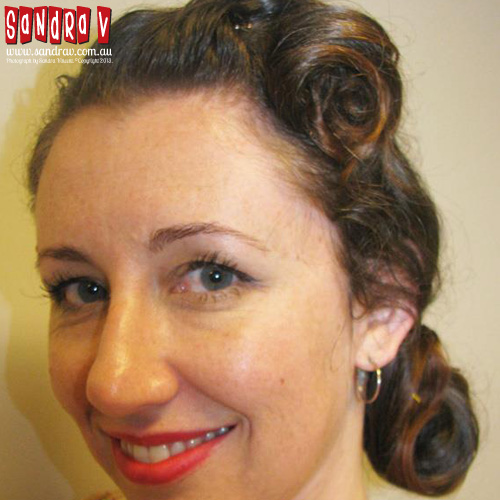 rockabilly hairstyles men : 1950s Rock And Roll Hairstyles Up in a 1950s rock n roll