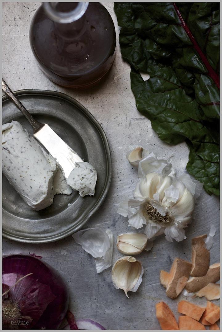 Thyme: Swiss Chard, Sweet Potato, and Goat Cheese Tart ...