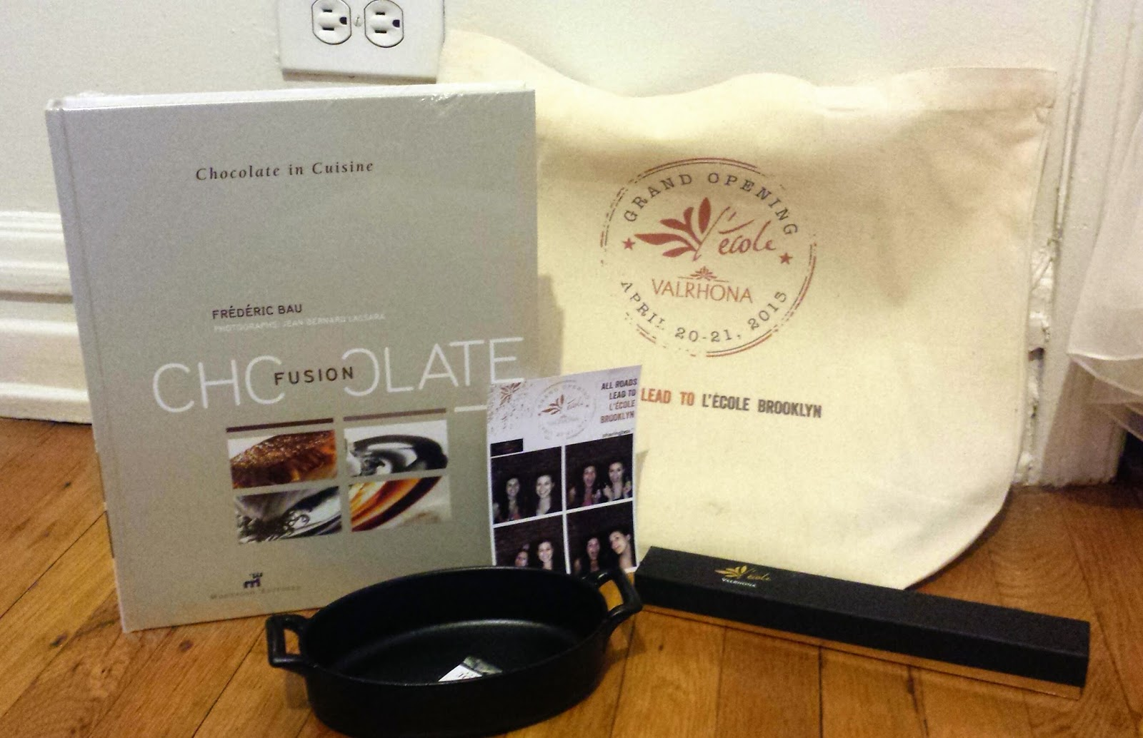 Gift bag from Valrhona party