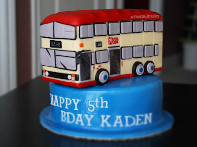 hong kong double decker bus cake
