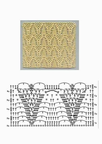 Образцы вязания крючком полотна